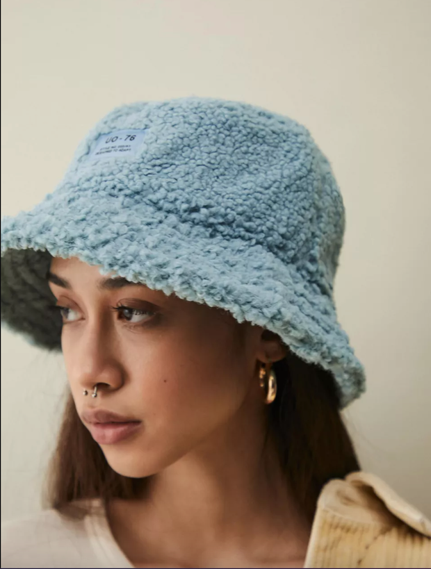 UO Blue sherpa hat
