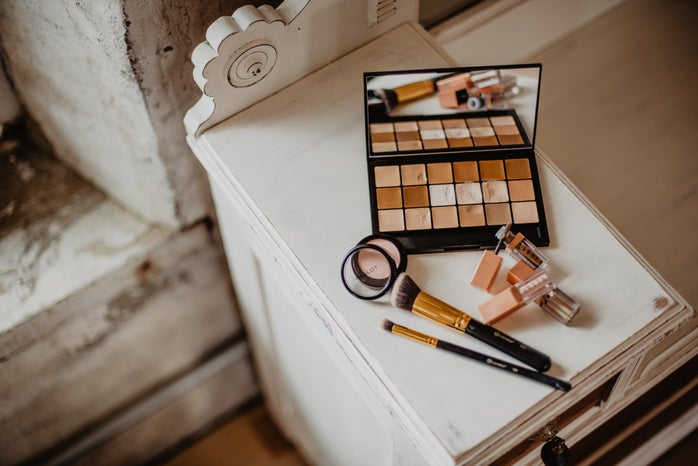 brown color scheme cosmetic products