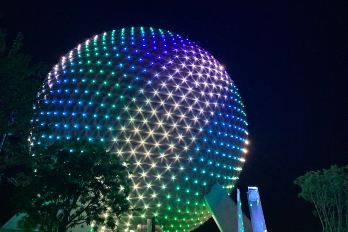 New lights on Spaceship Earth for 50th Anniversary Celebration