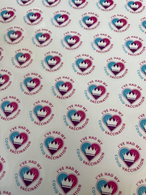 coronavirus vaccine stickers