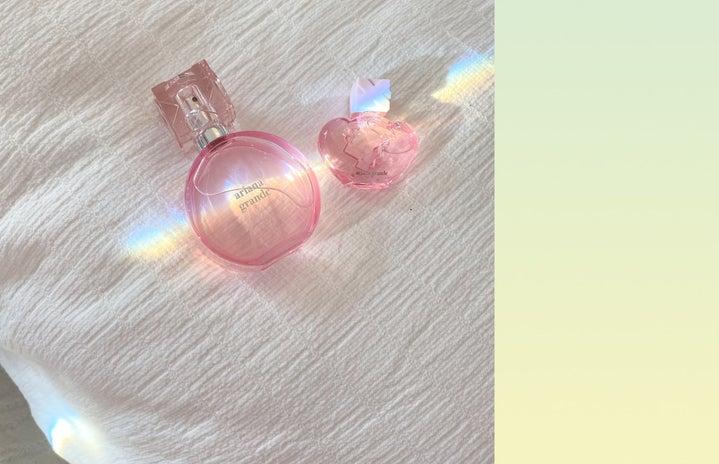 Ariana Grande perfume bottles