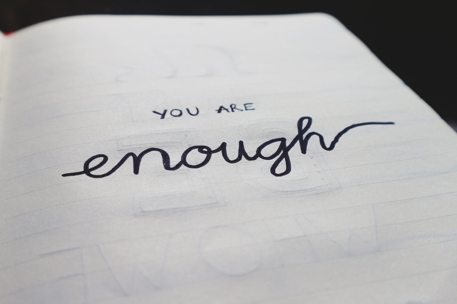 you are enough sign