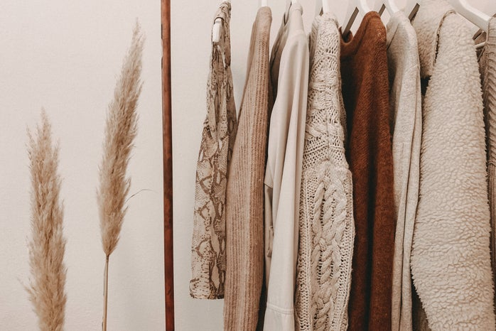 hanging neutral clothes