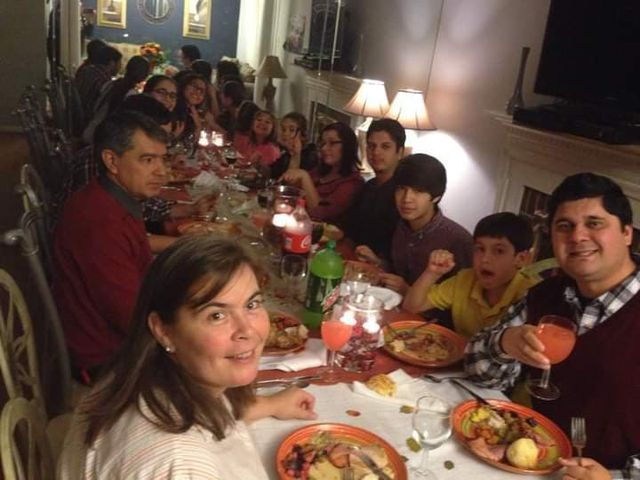Risso and his family in 2019 celebrating thanksgiving at his relative's home