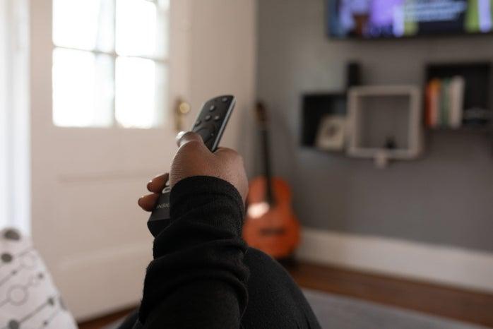 WOC watching TV