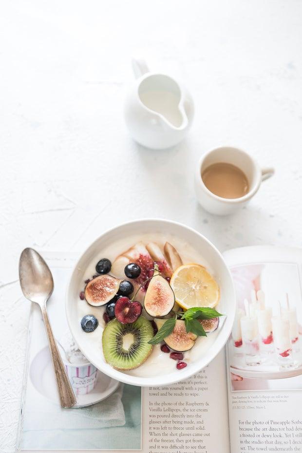 Healthy fruit breakfast