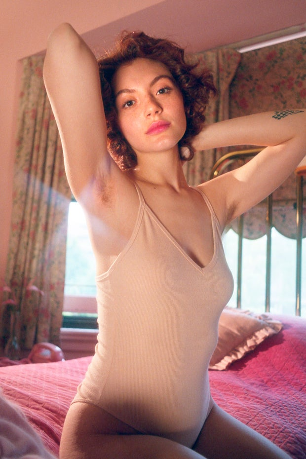 woman with body hair