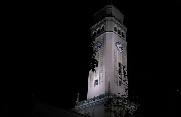 Clock tower at the University of Puerto Rico Rio Piedras Campus