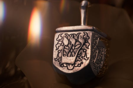 silver dreidel