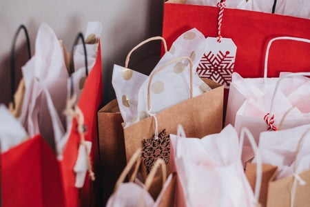 bags of gifts