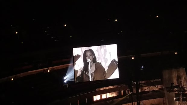 Rihanna performing at the United Center in Chicago, Apeil 26th 2016