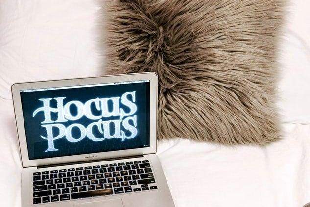 halloween movie laptop