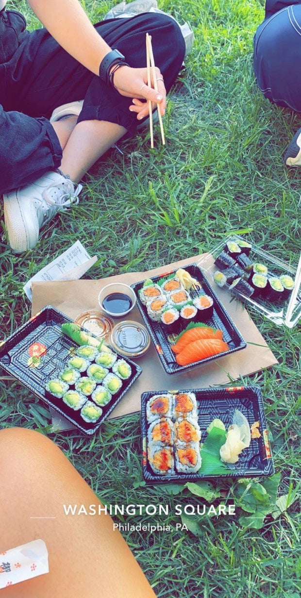 sushi in the park