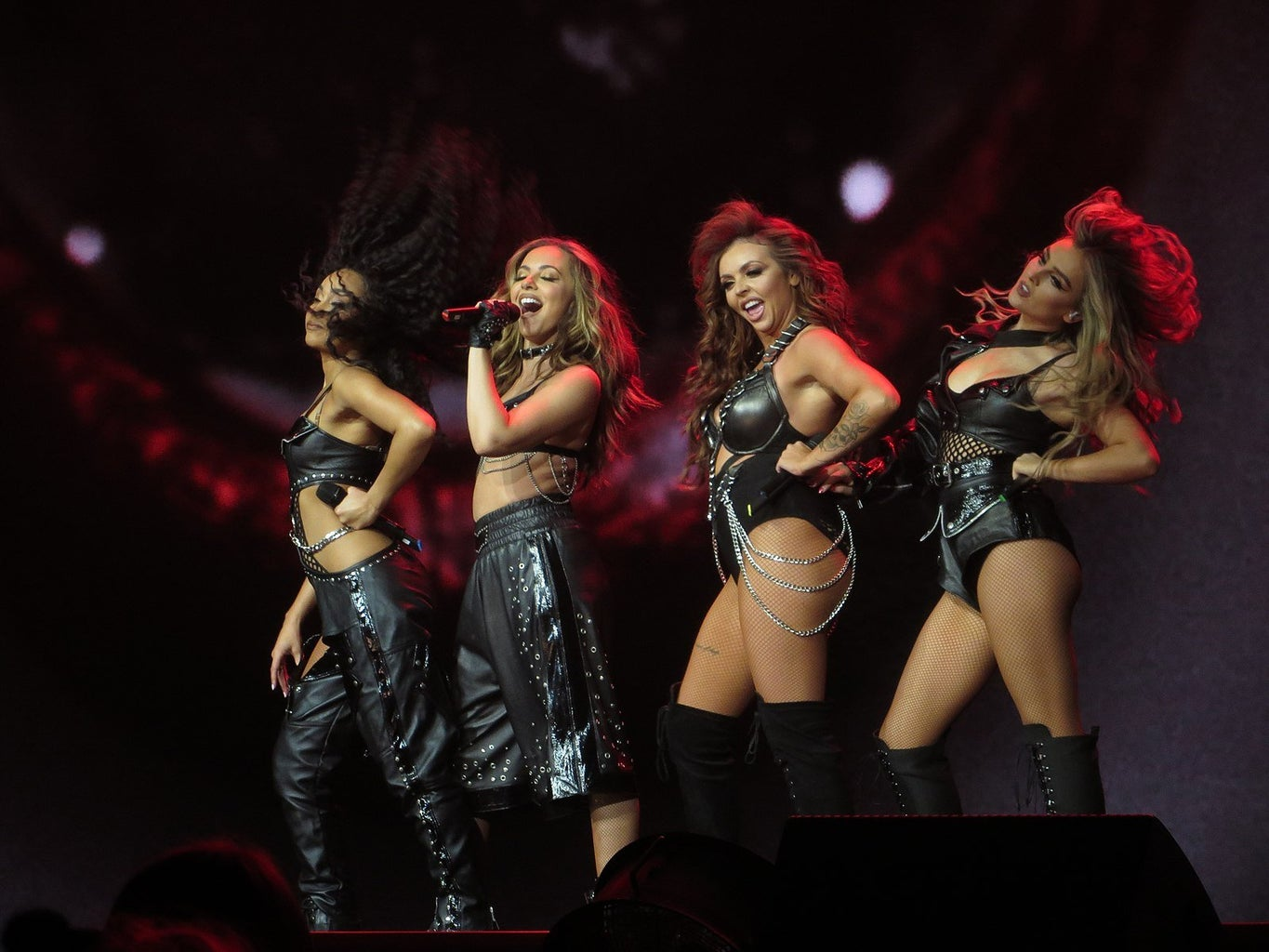 Little Mix performing on stage