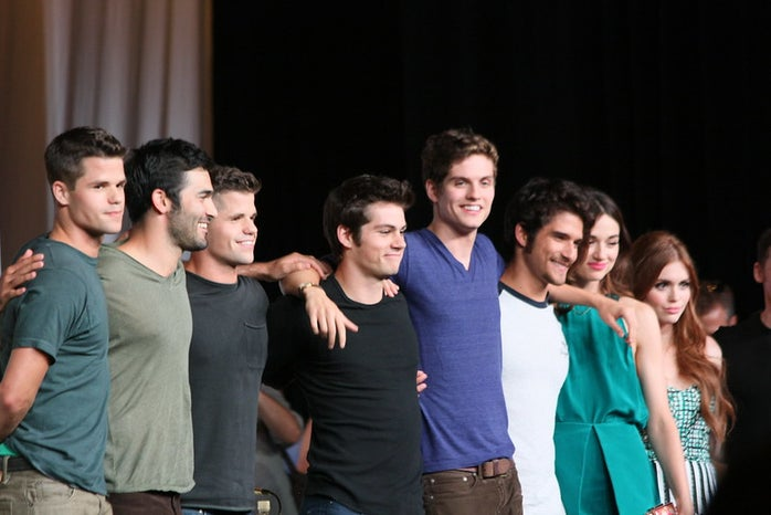 Teen Wolf cast photo at an event (MTV show turned Paramount + movie)