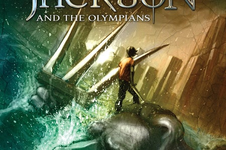 cover of the lightning thief by rick riordan