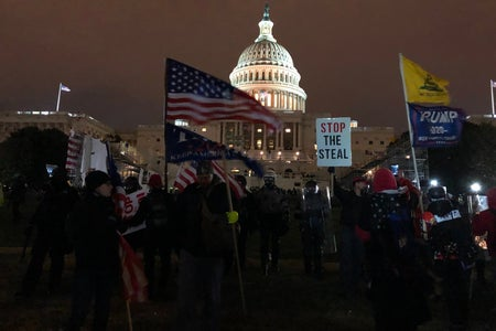 Washington DC capitol building trump protest