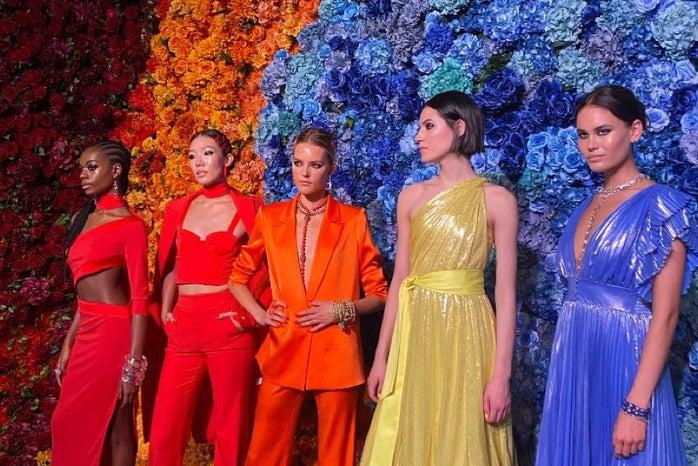 Models at New York Fashion Week 2021