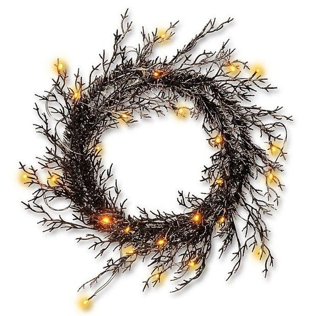 glitter halloween wreath