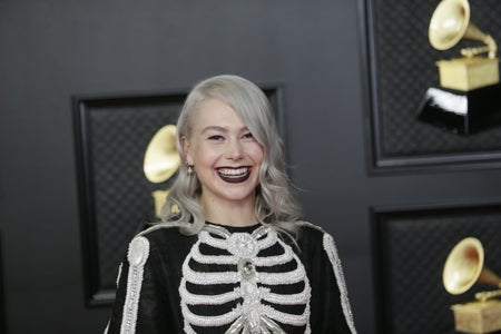 Phoebe Bridgers at the 2021 Grammy Awards Red Carpet