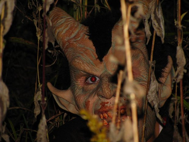 demon hiding in weeds