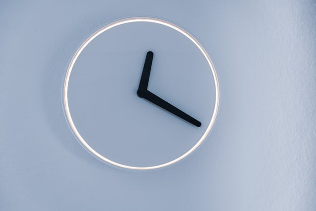 analog clock on wall