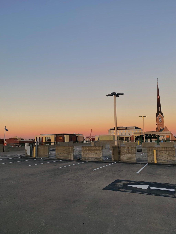 Sunset at a Parking Garage in Charleston, SC