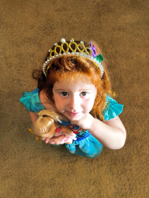 girl dressed up as a princess