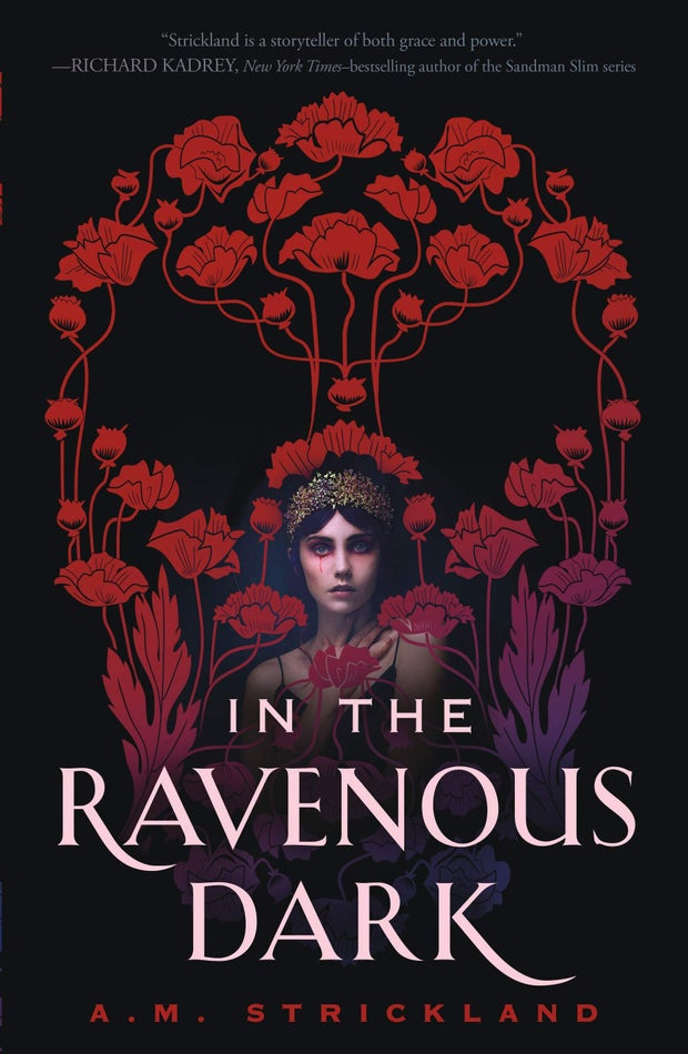 book cover of in the ravenous dark by a.m. strickland