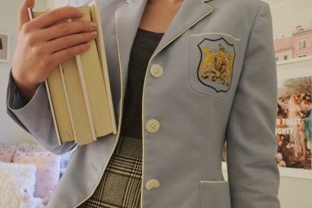 books and blazer