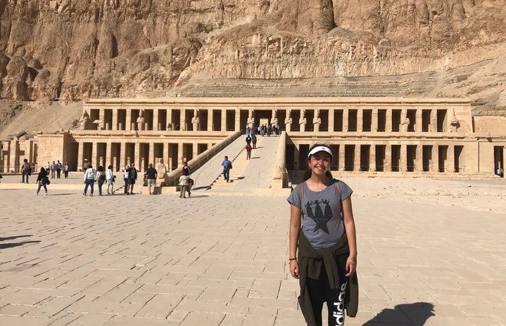 Me at the temple of Hatshepsut