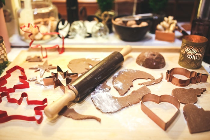 Christmas cookie making