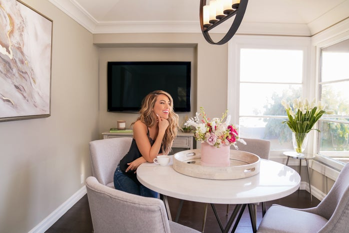 Chrishell Strause in her home