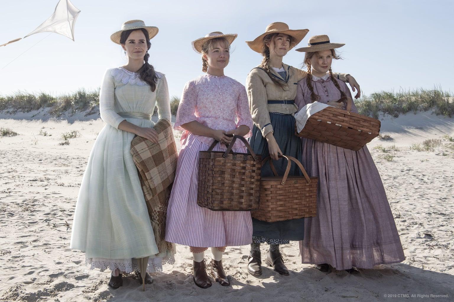 little women at the beach