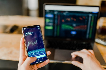 Computer and phone stock market