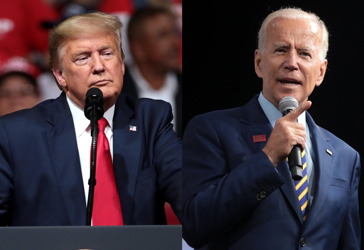 donald trump + joe biden presidential race