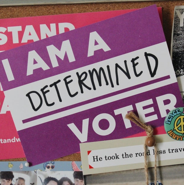 I am a determined voter