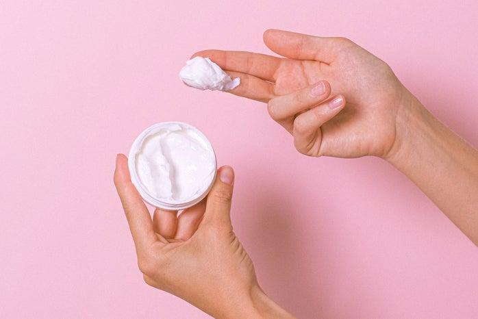 Hand with cream