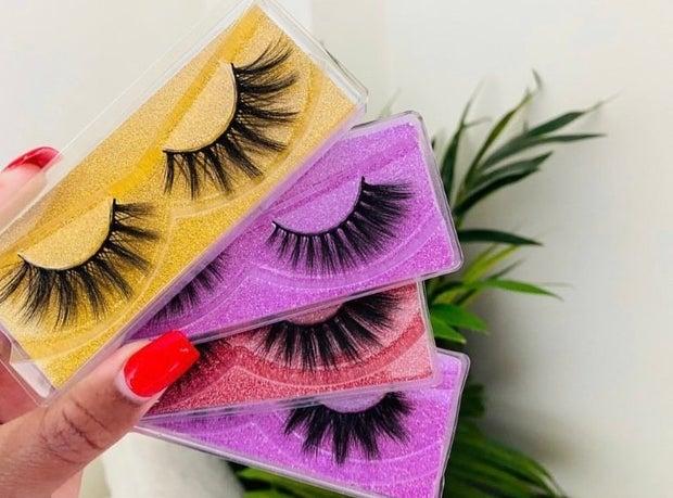4 different types of eyelash sets by small irish beauty brand