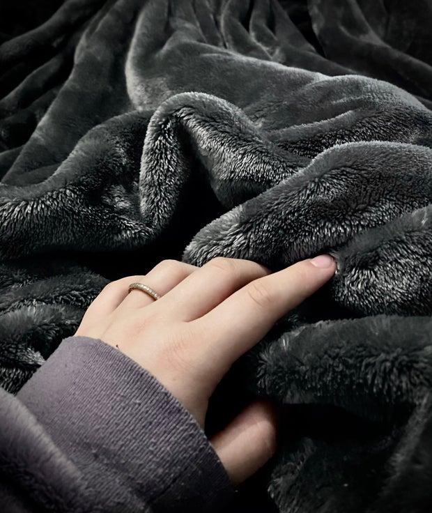 Soft gray blanket