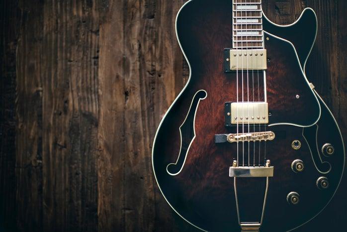 electric jazz guitar