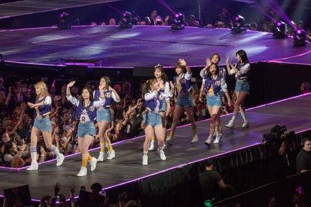 kpop girl group twice walking on stage