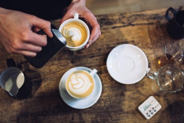 barista preparing coffee cappuccino