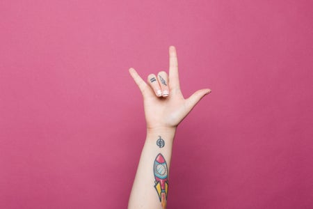 tattooed hand