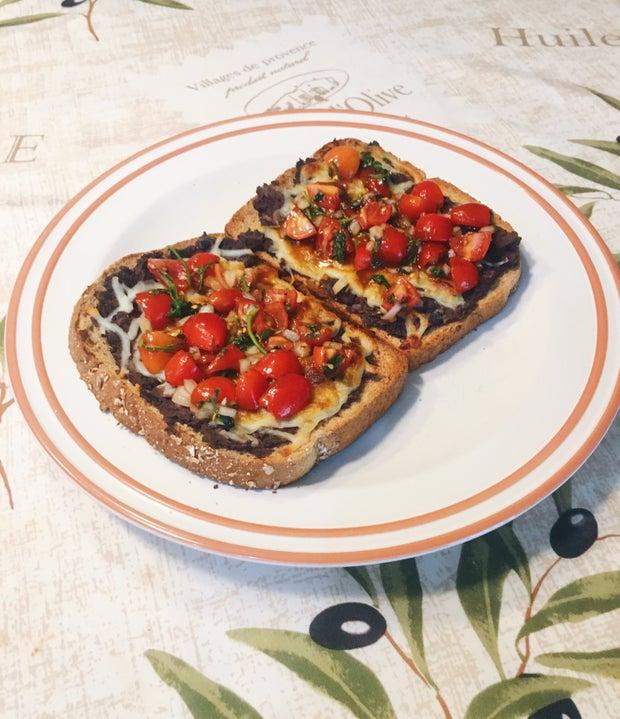 Breakfast toast, savory toast