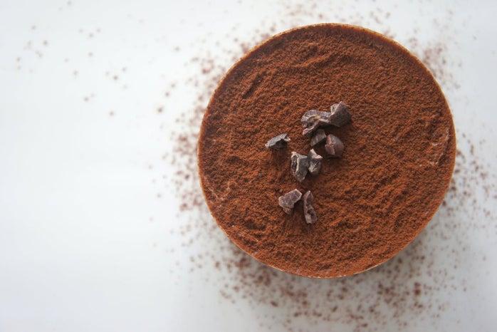 close up of cocoa powder