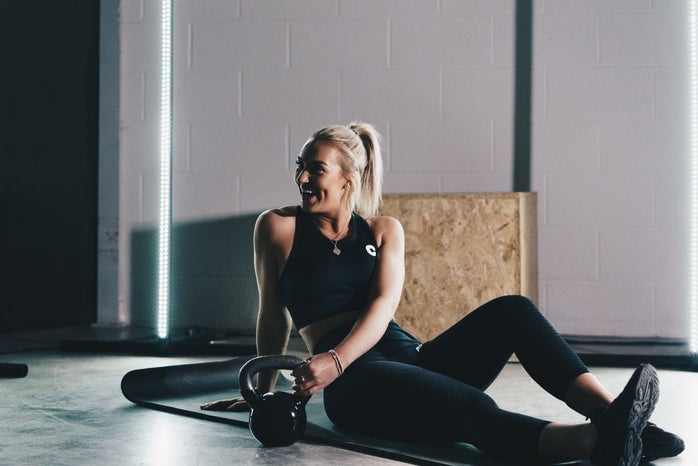 girl smiling in gym
