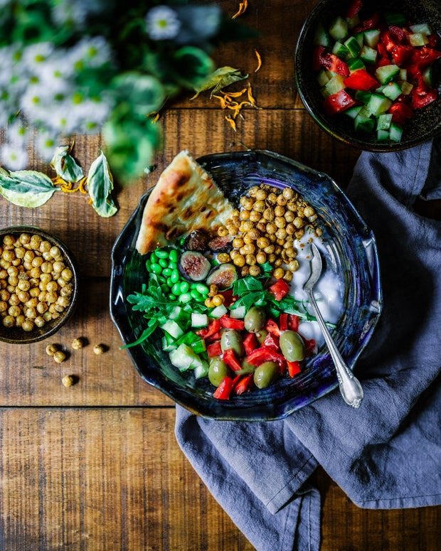 Bowl of colourful food