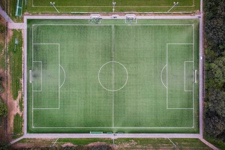 Aerial Image of a Soccer Field