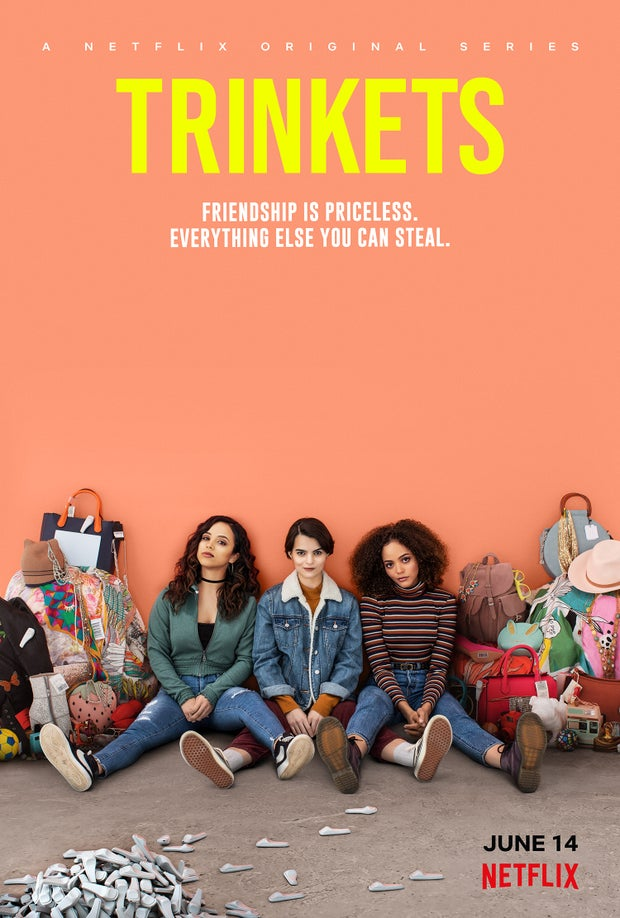 Poster of a show called Trinkets